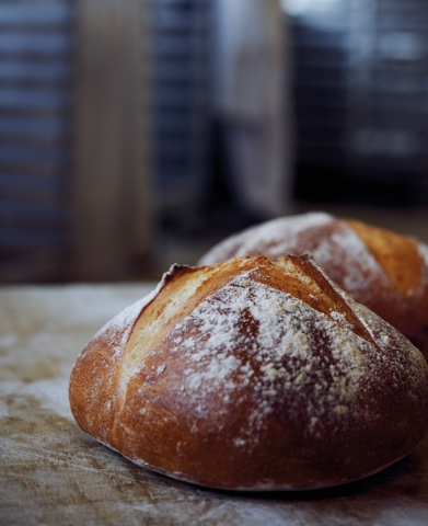 Ofenfrisches Brot Kleiner Bäckerei-Konditorei