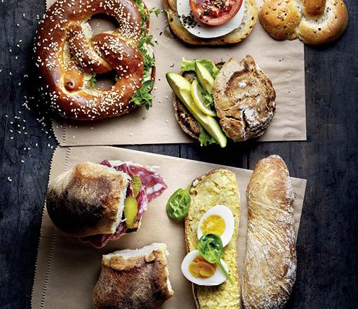 Sandwiches Kleiner Bäckerei-Konditorei